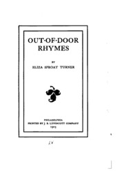 Out-of-door rhymes  sc 1 st  Internet Archive & Out of door rhymes : Turner Eliza S. [from old catalog] : Free ... pezcame.com