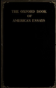 the oxford book of latin american essays The oxford book of latin american essays by stavans, ilan oxford university press hardcover good spine creases, wear to binding and pages from reading may.