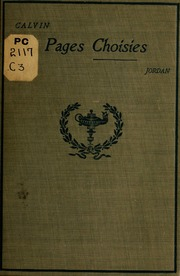 Pages choisies de Calvin