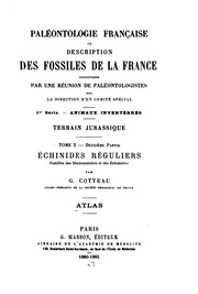 Paléontologie Francaise ou description des fossiles de la France: 1 série ...