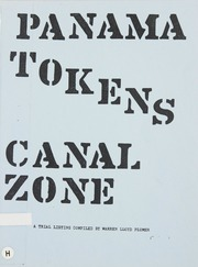 Panama Tokens Canal Zone
