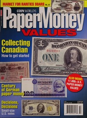 Paper Money Values [October 2008]