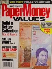 Paper Money Values [April 2009]