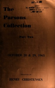 The Parsons collection ... [10/28-29/1965]
