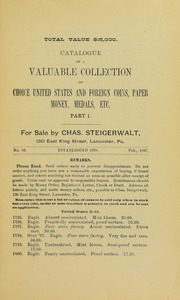 Part I Catalogue of a $15,000 Collection, No. 56