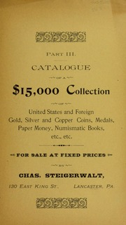 Part III Catalogue of a $15,000 Collection, No. 56B