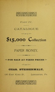 Part IV Catalogue of a $15,000 Collection, No. 56C
