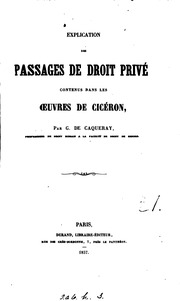 PASSAGES DE DROIT PRIVE