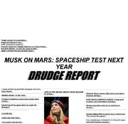 Drudge Report at March 12, 2018, 11:05 a m  : pastpages org