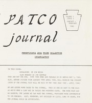 PATCO Journal: Vol. 1, Issues 1, 2, 3, 4, 5 and 6