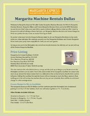 margarita machine rental dallas