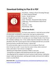 Getting To Plan B Pdf
