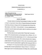 FISC BR-14-01 Order to Preserve NSA Metadata.pdf (PDFy mirror)