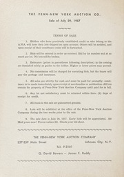 The Penn-New York Auction Company Auction of Rare United States Coins, July 29, 1957