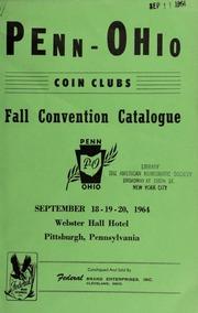 Penn-Ohio coin clubs : fall convention catalogue. [09/18-20/1964]