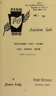 Penn-Ohio convention auction sale. [06/13-16/1963]