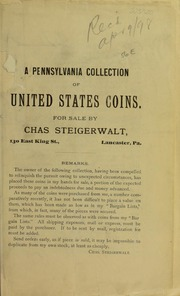 A Pennsylvania Collection of United States Coins