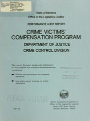 crime and victim compensation programs A crime victim or family member must exhaust all other sources of compensation before ovs can assist for example, benefits must first be obtained from health or other insurance policies or workers' compensation before the agency can provide compensation.