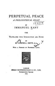 Perpetual peace  a philosophical essay   Kant  Immanuel                La Audacia de Aquiles   WordPress com