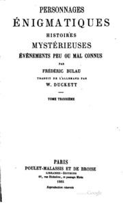Vol 2: Personnages énigmatiques, histoires mystérieuses, événements peu ou mal connus
