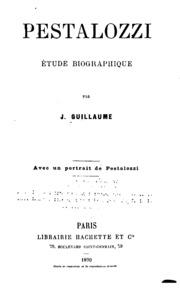 Pestalozzi, étude biographique