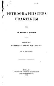 Vol 2: Petrographisches praktikum