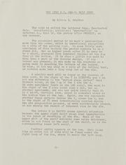 Milton Pfeffer Correspondence