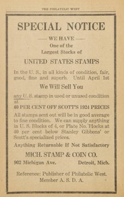 The Philatelic West: 1924