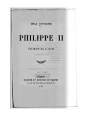 Philippe II: Philippe II. Tragédie en 3 actes
