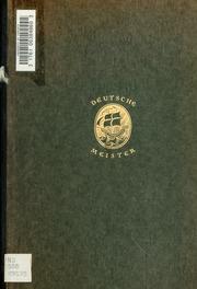Philipp Otto Runge; sein Leben und sein Werk. Dargestellt von Paul Ferdinand Schmidt
