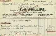Phillips hardened steel rolls for Philadelphia mint