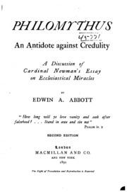 flatland by edwin a abbott essay Author: edwin abbott genre: novel year: 1884 description: the novel flatland by edwin abbott abbott is an imaginative, delightful novel about the inhabitants of.