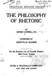 the philosophy of rhetoric pdf