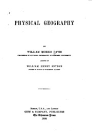 geographical essays davis william morris  physical geography