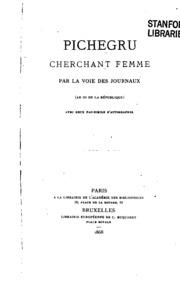 Pichegru cherchant femme, par la voie des journeaux: an III de la République.