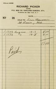 Richard Picker Correspondence, 1954-1956
