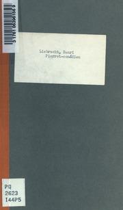 Pierrot-comédien; où, Les matinées mondaines. A-propos funambulesque pour la réouverture des Matinées mondaines