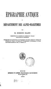 Vol 1: Épigraphie antique du département des Alpes-maritimes