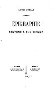 Épigraphie santone and aunisienne