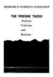 pirenne thesis analysis