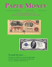 Paper Money (May/June, 2013)
