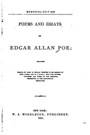 poems and essays of edgar allan poe including memoir by john h poems and essays of edgar allan poe including memoir by john h ingram tributes to his memory edgar allan poe john henry ingram james russell