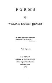 William Ernest Henley Poems 2
