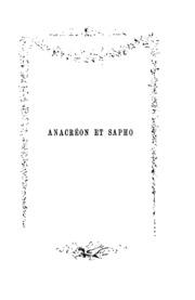 Poesies de Anacreon et de Sapho