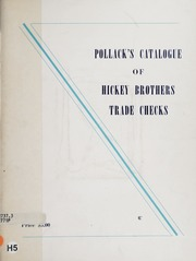 Pollack's Catalogue of Hickey Brothers Trade Checks