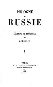 Pologne et Russie: légende de Kosciusko