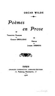 Poèmes en prose