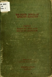 Pope s essay on criticism pope alexander 1688 1744 free