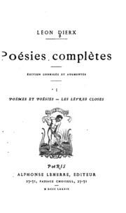Vol 1: Poésies complètes