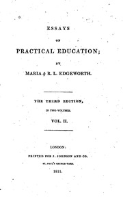 maria edgeworth an essay on the noble science of self-justification